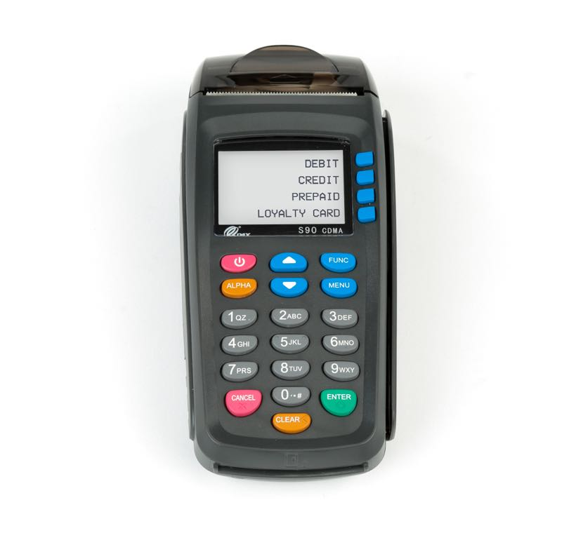 photo of a PAX S90 wireless payment terminal