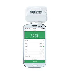 image of Clover Go attached to a smartphone
