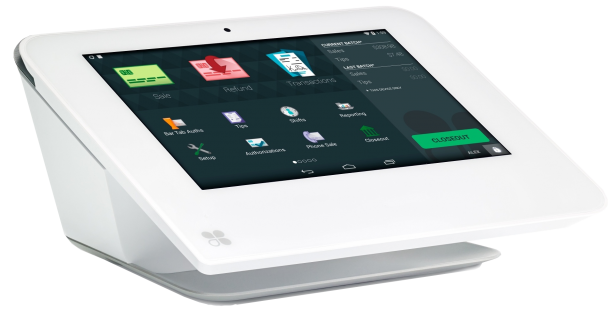 Image of the Clover Mini POS tablet system