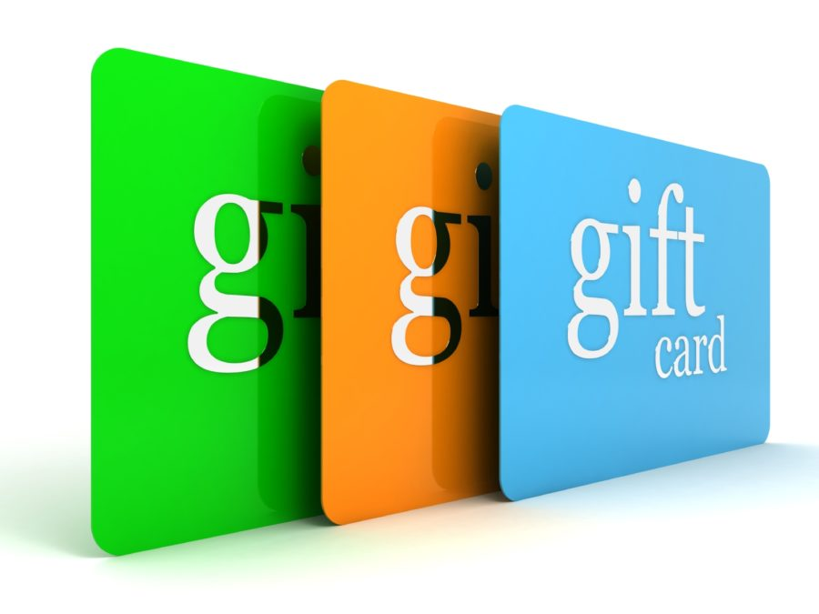 Images of various gift cards
